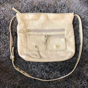 Stone Mountain ⛰ Cream Pebbled Leather Bag